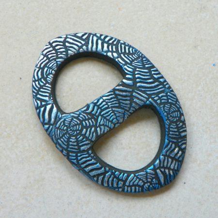 Oválná sponka na šátek, amonit modrá