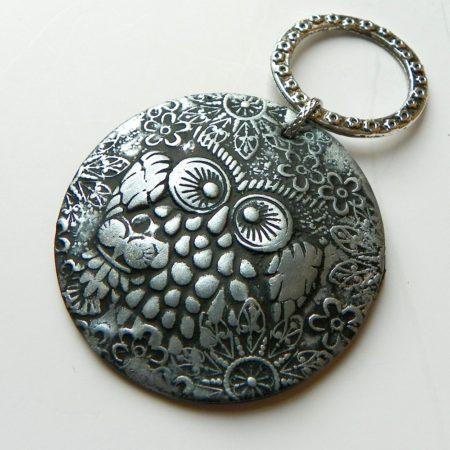 Přívěs na nákrčník sova stříbrná