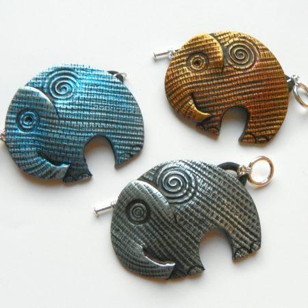 Spona na šálu slon