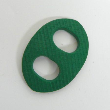 Oválná sponka na šátek zelená