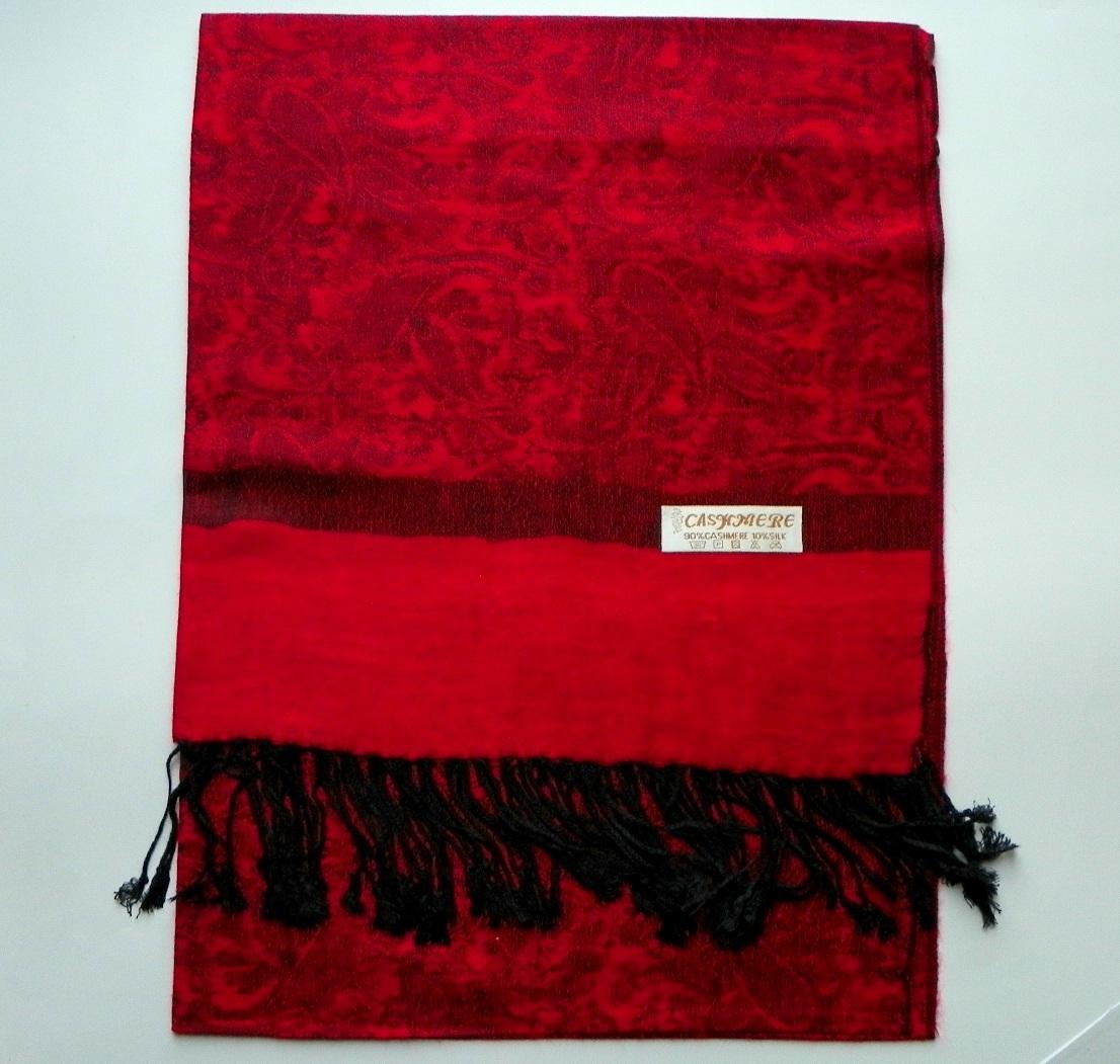 Kašmírová šála červená  7ae8ab382b