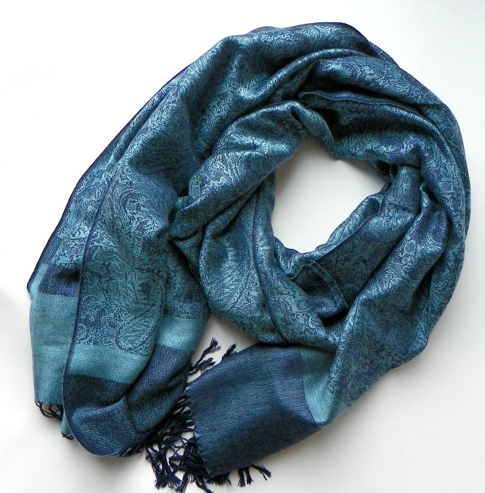 Kašmírová šála modrá  57dfd61b2c