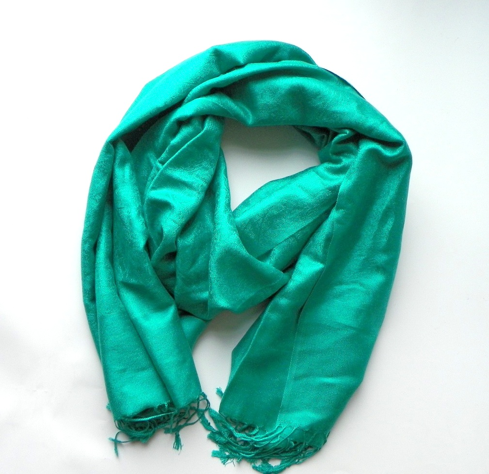 Kašmírová šála zelenotyrkysová  e210fa81c9