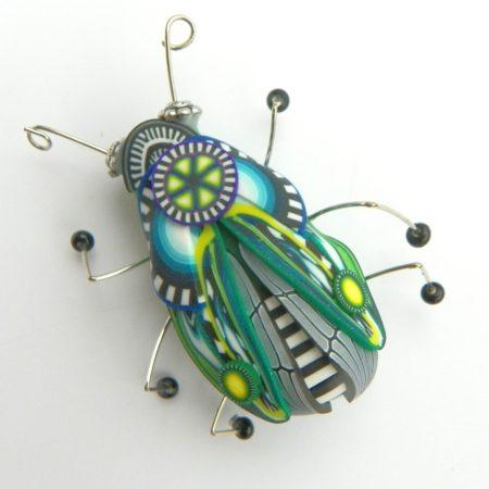 Brož hmyzák modrozelený