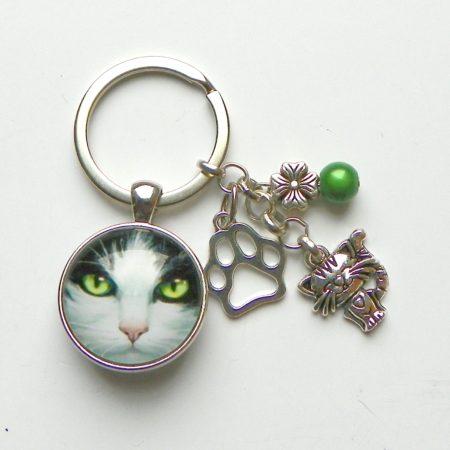 Oči kočičí - klíčenka