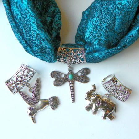 Tyrkysová šperkošála - vážka, kolibřík, slon