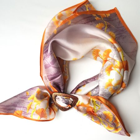 Šátek se sponou  - ginko