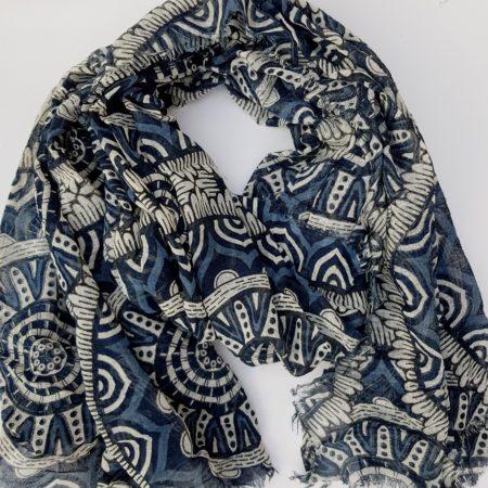 Šála mandala - modrá
