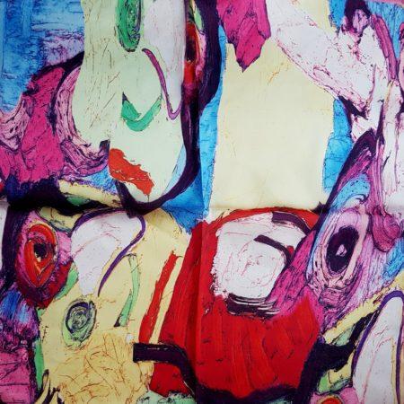 Hedvábný šáteček abstrakce