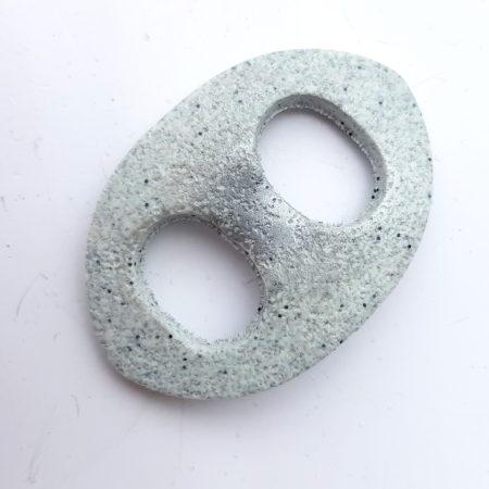 Oválná sponka na šátek - grey stone