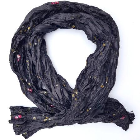 Mačkaná šála - černá