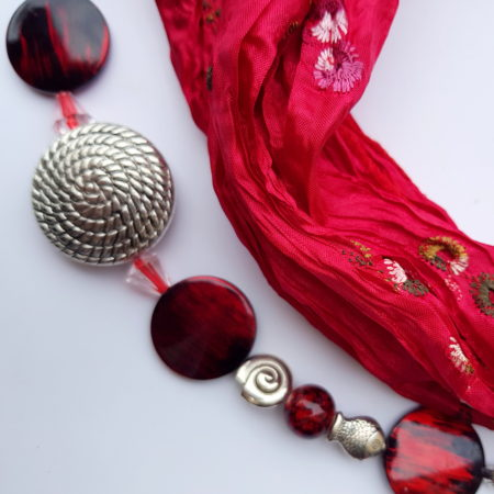 Šátkošperk červený se spirálami
