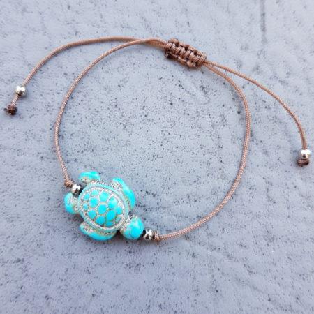 Mikronáramek želvička tyrkysová