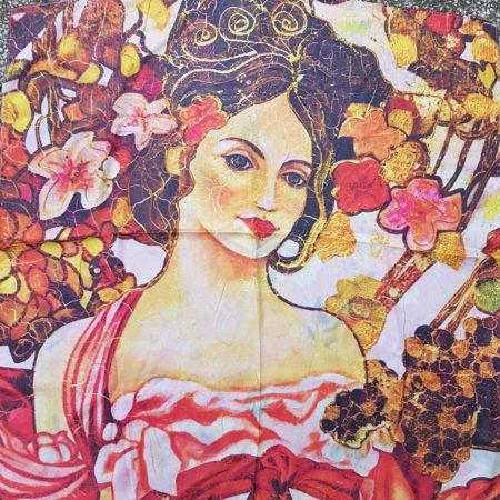 Šátek Mucha oboustranný- do růžova